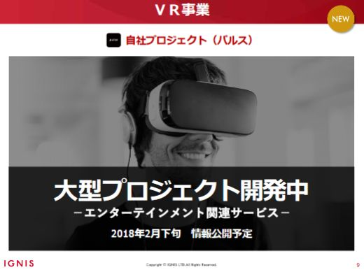 イグニス VR事業